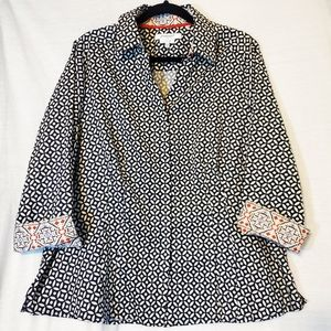 Foxcroft NYC Wrinkle Free Fitted Button Up Top 14W